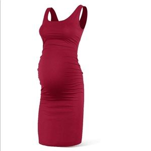Dresses & Skirts - Red bodycon maternity dress